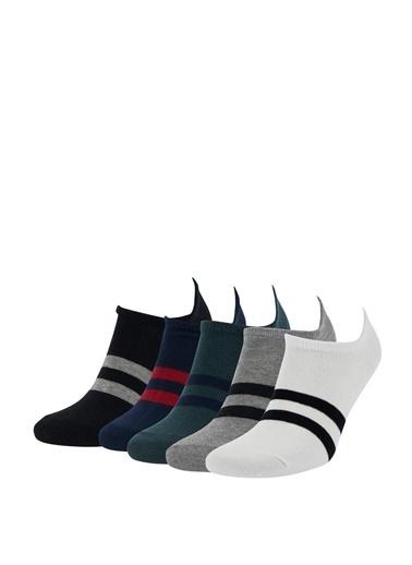 DeFacto Renk Bloklu 5'li Patik Çorap Camel